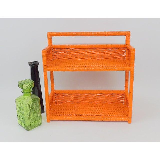 Orange Wicker Wall Shelf - Image 9 of 11