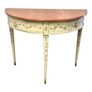 18th Century Italian Neoclassical Marble Top Console Table