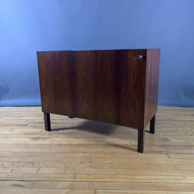 Kai Kristiansen Rosewood Hydraulic Bar Cabinet, 1968 For Sale - Image 9 of 12