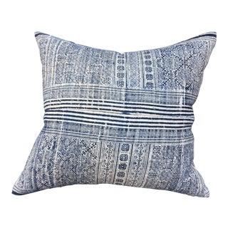 Indigo Batik Pillow For Sale