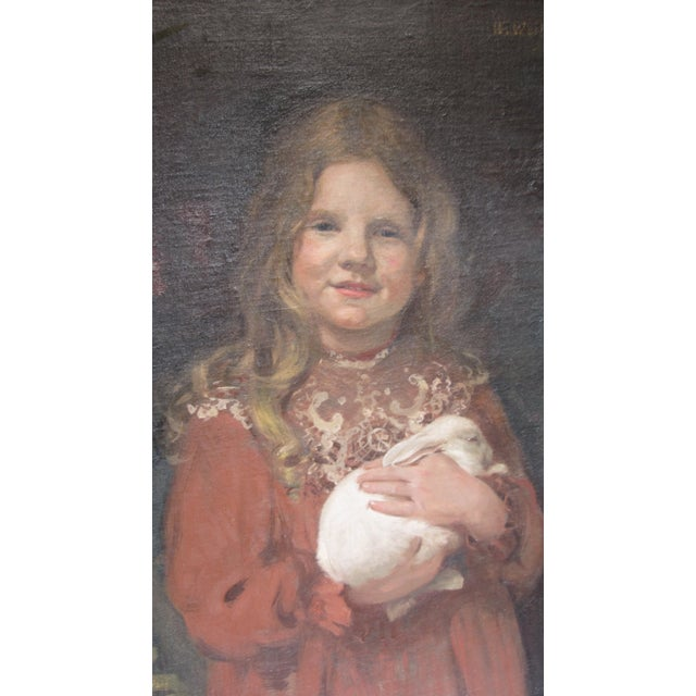 Portrait of a Girl and Her Rabbit by William Walls - Image 3 of 10