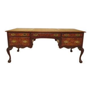 Hekman Large Clawfoot Mahogany Executive Desk