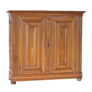 Mid 19th Century Continental Walnut Cabinet For Sale
