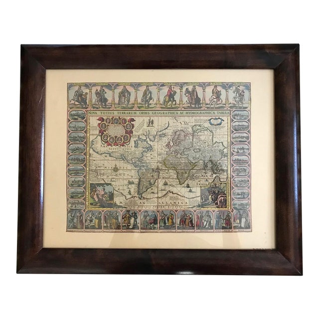 Vintage Framed Maps 1589-1670 by Speed, Ortelius, Hondius & Jansson For Sale