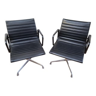 Vintage Eames for Herman Miller Aluminum Group Office Chairs - a Pair For Sale