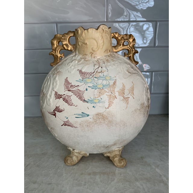 Sam Moore Antique 1860 Samuel Moore & Co. Chinoiserie Moon Vase For Sale - Image 4 of 9