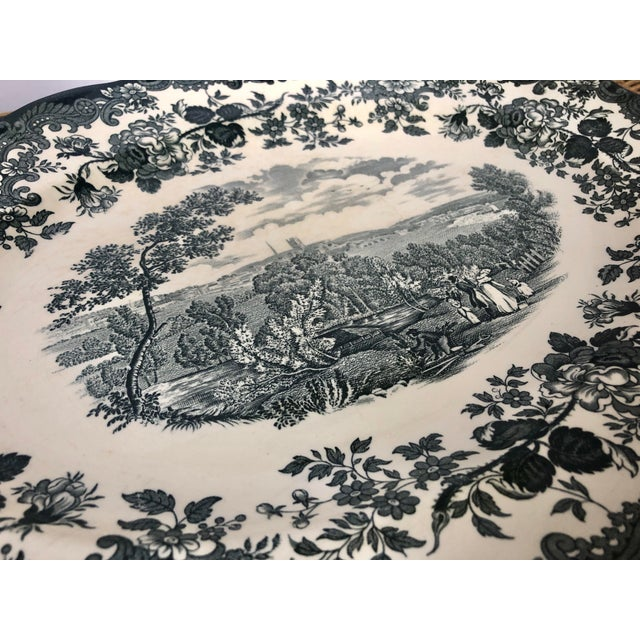 "Ceramic Royal Worcester Palissy ""Avon Scenes"" Hand Engraved Porcelain Platter For Sale - Image 7 of 10"
