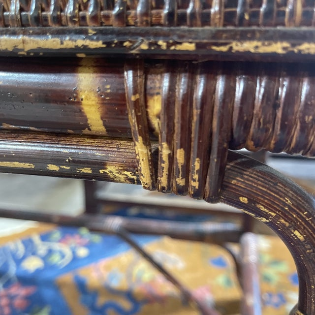 Vintage Bamboo Writing Desk For Sale - Image 9 of 12