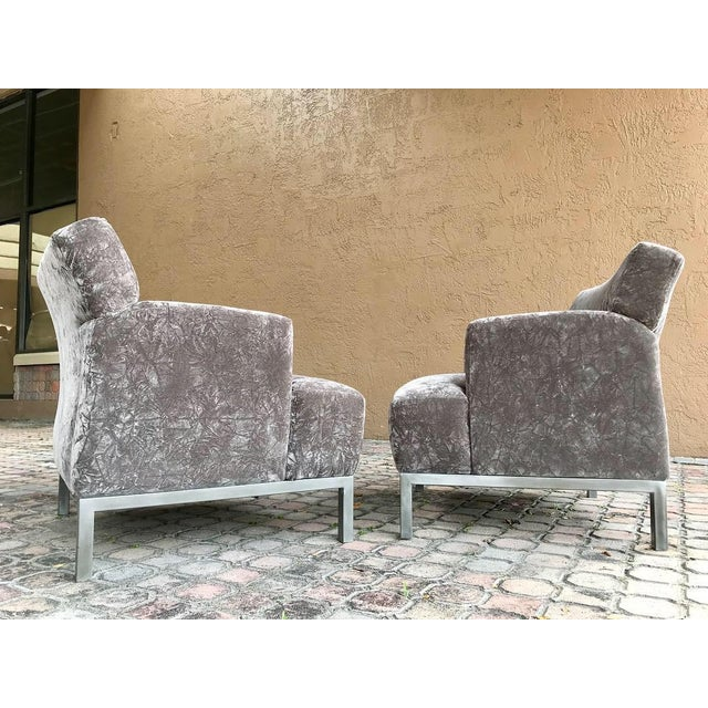 Art Deco Krug Furniture Modern Carlyle Lounge Chairs - a Pair For Sale - Image 3 of 7