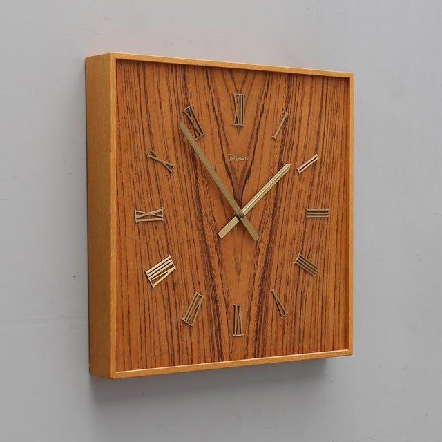 Mid-Century Modern Midcentury Wall Clock by Junghans For Sale - Image 3 of 6