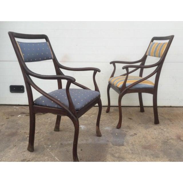 Art Nouveau Style Vintage Chairs - A Pair - Image 3 of 6