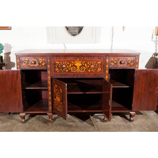 Dutch Marquetry Cabinet or Fall Front Desk - Image 6 of 7