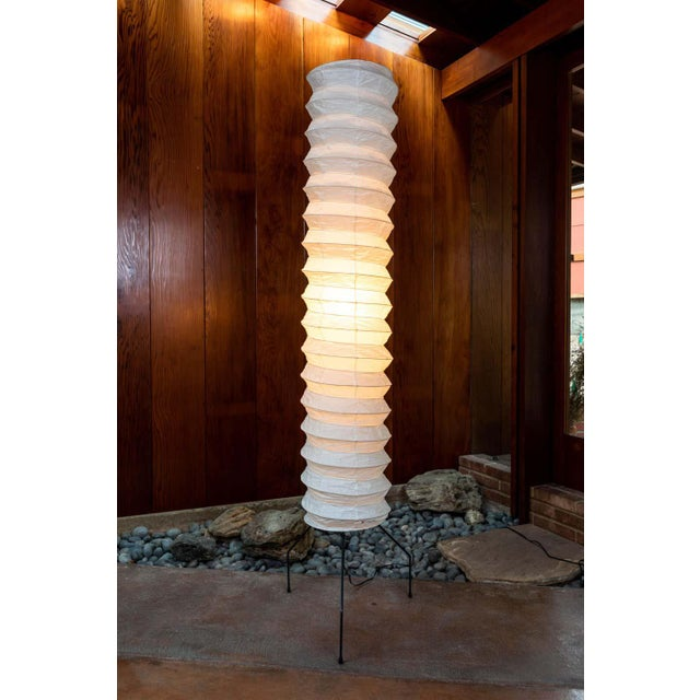 White Monumental Akari Model Uf4-31n Floor Lamps by Isamu Noguchi - a Pair For Sale - Image 8 of 13