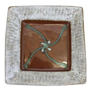 Tatsuzo Shimaoka Japanese Glazed Stoneware Tray For Sale