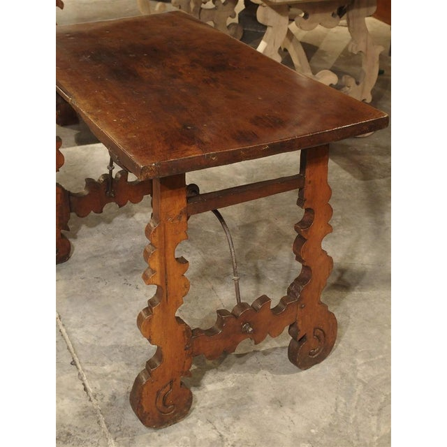 Circa 1750 Italian Walnut Wood Writing Table For Sale - Image 9 of 13