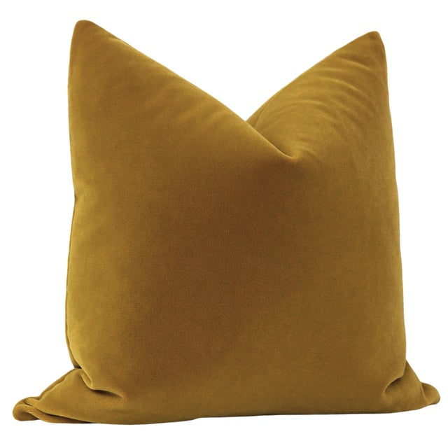 """Contemporary 22"""" Bourbon Mohair Pillows - a Pair For Sale - Image 3 of 5"""