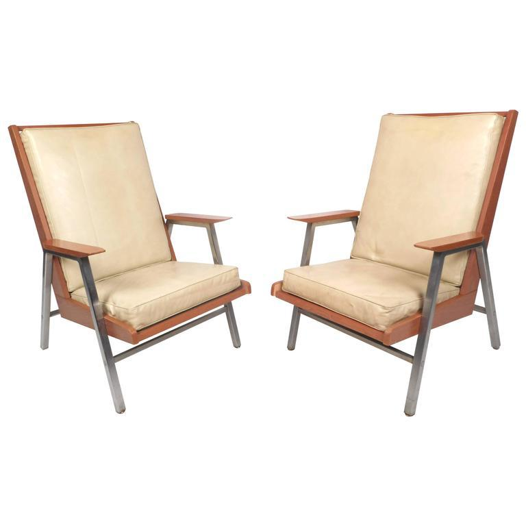Mid Century Modern Lounge Chairs By Royal Metal Company   Image 3 Of 11