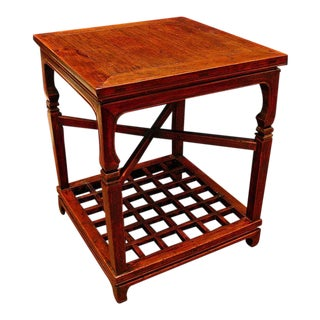 A Chinese Two Tier Side Table For Sale