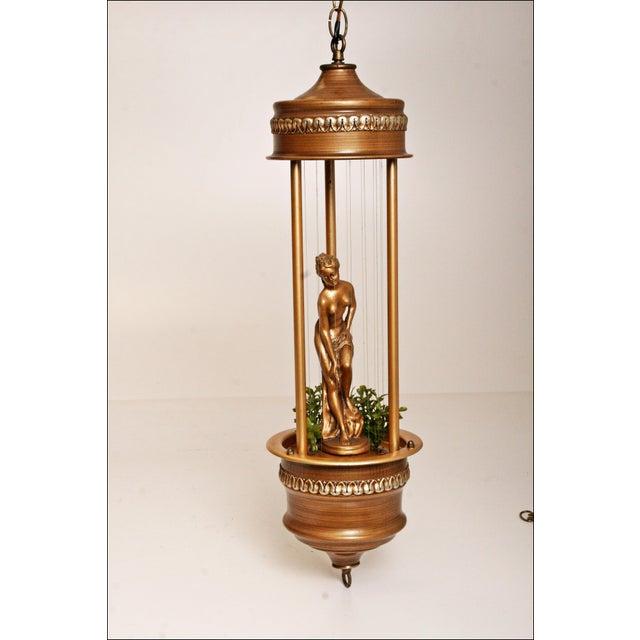 Vintage Mineral Oil Hanging Lamp - Image 2 of 11