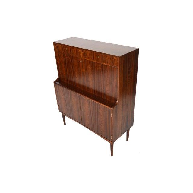 Danish Modern Rosewood Secretary Bar - Image 7 of 9