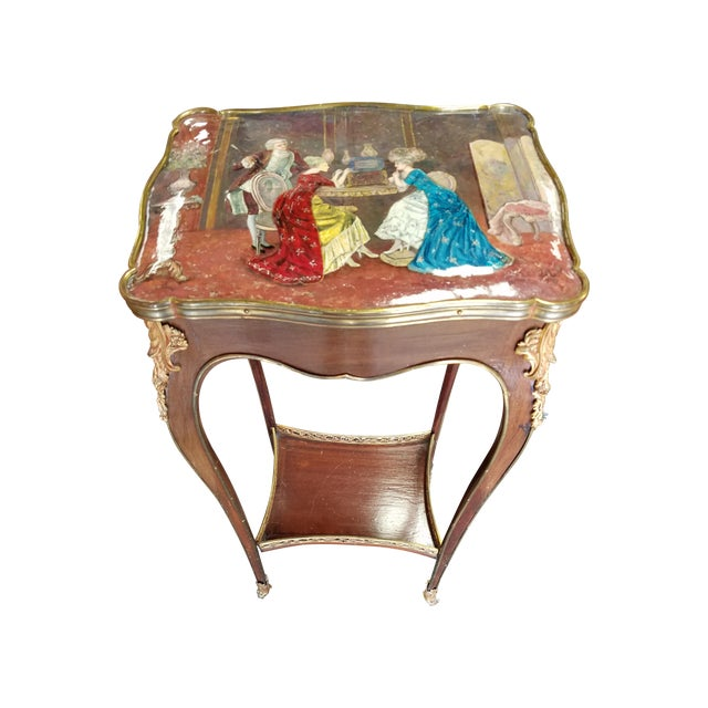 Antique French Enamel Palos Table - Image 1 of 7