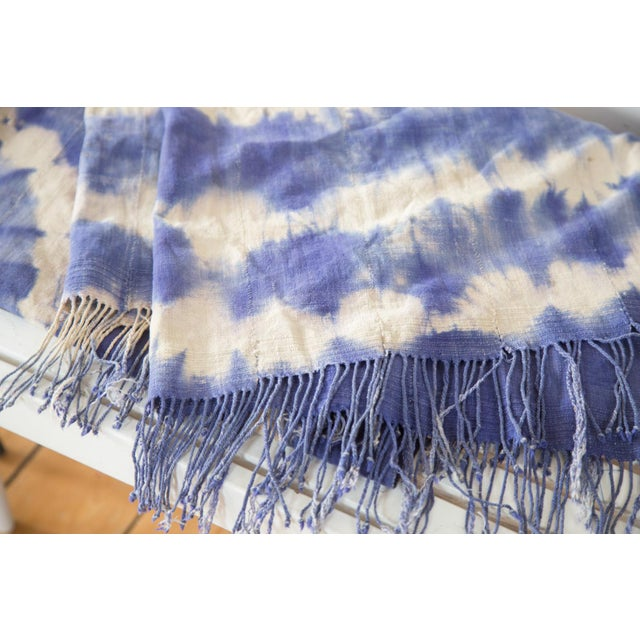 """Vintage African Textile Throw - 3'3"""" X 6'4"""" - Image 3 of 7"""