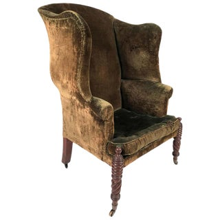 American Federal Period Wingback Chair From Portsmouth, New Hampshire For Sale