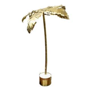 Vintage Brass Palm Tree Floor Lamp For Sale