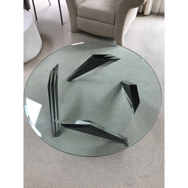 Modern Round Glass Coffee Table - Image 3 of 3