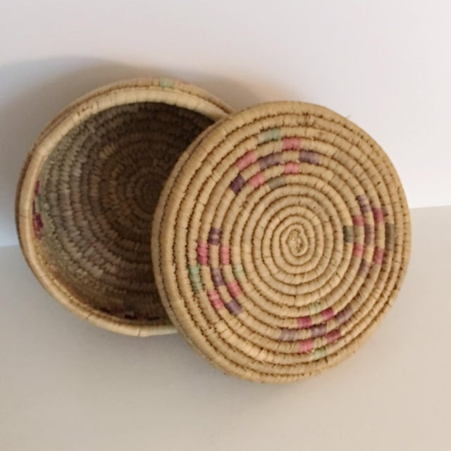 Vintage Boho Chic Hand Woven Basket - Image 2 of 7