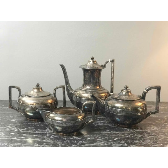 Four-piece Gorham silver-plated tea and coffee set from the 1920s.