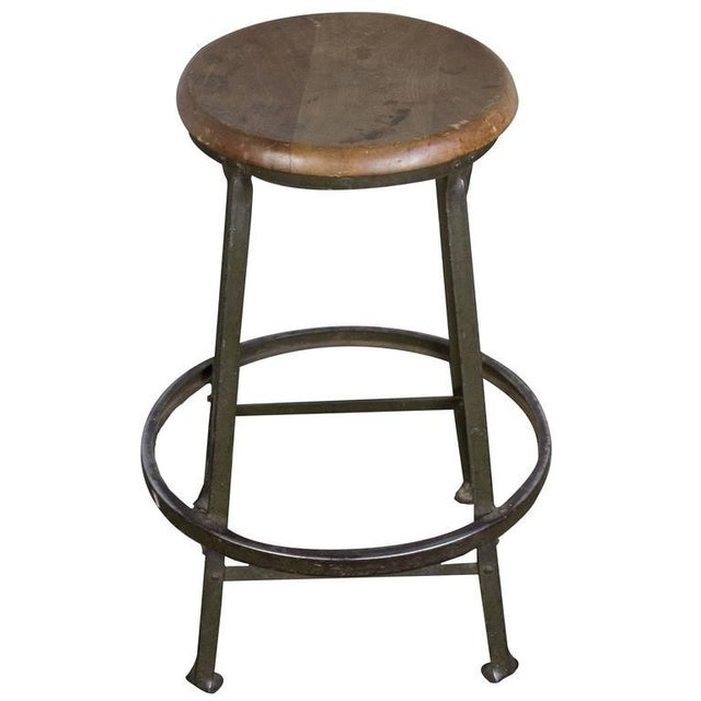 American 1930s Factory Stool - Image 8 of 8