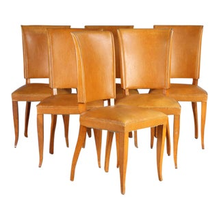 Set of Six Upholstered Dining Chairs For Sale