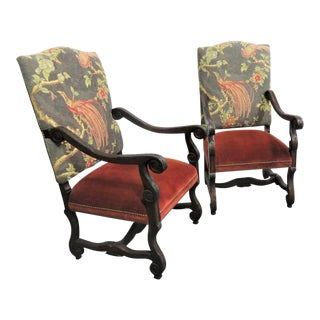 Drexel Heritage Italian Style Arm Chairs- a Pair For Sale