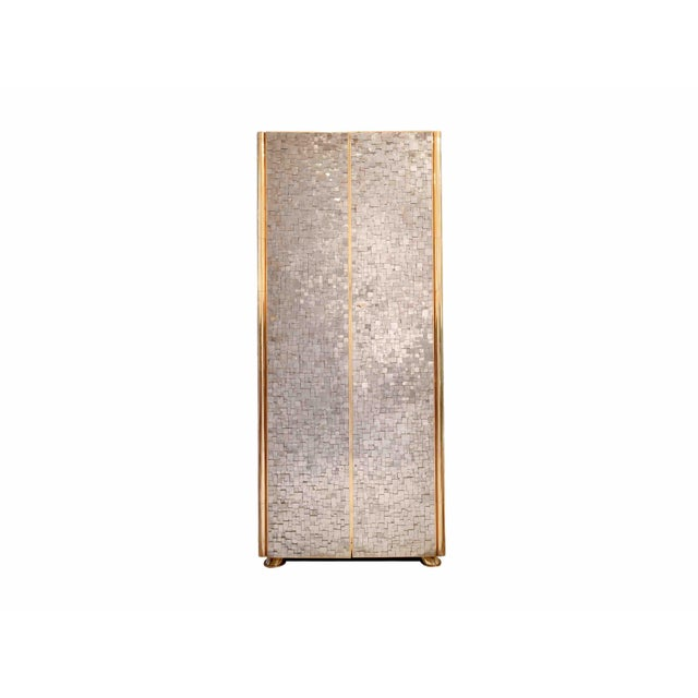 Gold Kam Tin - Tall Pyrite Cabinet, France, 2017 For Sale - Image 8 of 8