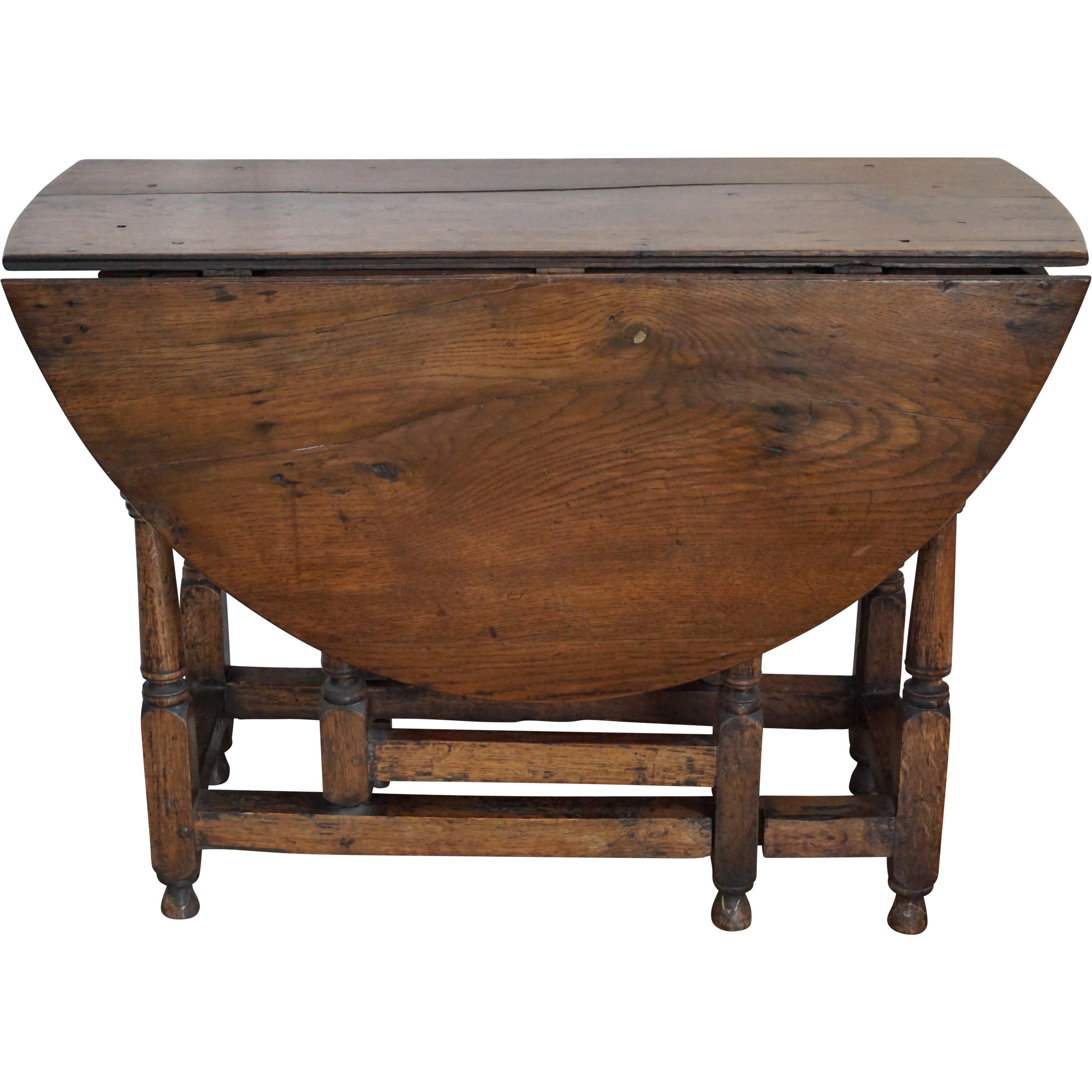 English Traditional 18th Century English Oak Drop Leaf Gateleg Table For  Sale   Image 3 Of