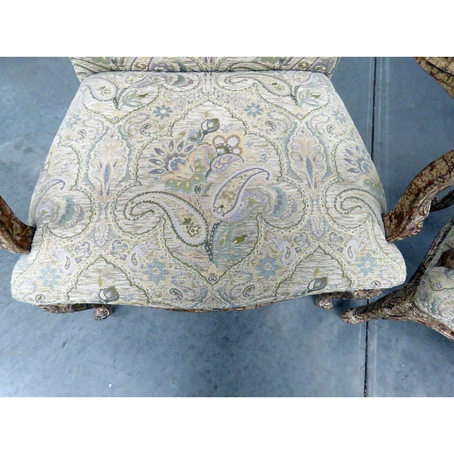 Louis XV Louis XV Style Tapestry Armchairs - a Pair For Sale - Image 3 of 12