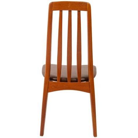Slim Teak Tall Danish Dining Chairs - Set of 4 - Image 4 of 6