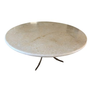 Late 20th Century Vicenza Shellstone Dining Table For Sale