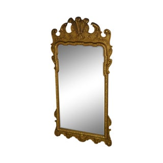 Friedman Brothers Georgian Style Gilt Carved Beveled Mirror For Sale