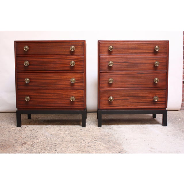 Pair of Midcentury Stained Mahogany Chest of Drawers - Image 9 of 9