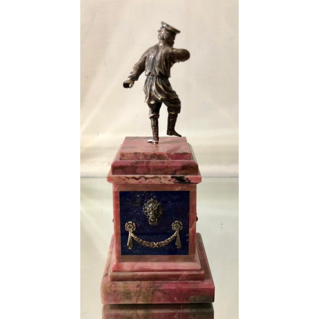 Neoclassical Rare Antique Russian Sterling Silver Sculpture For Sale - Image 3 of 6