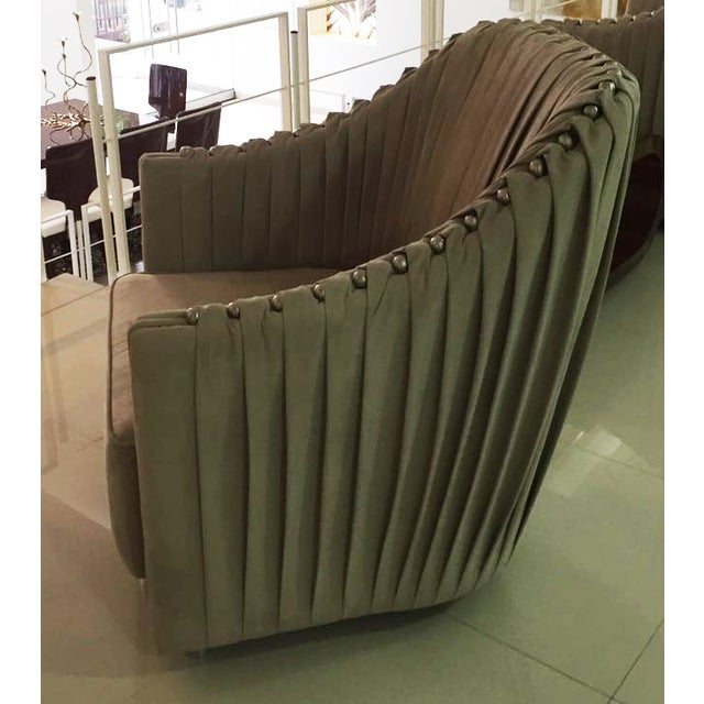Cavalli Style Ultrasuede Chair - Image 3 of 5