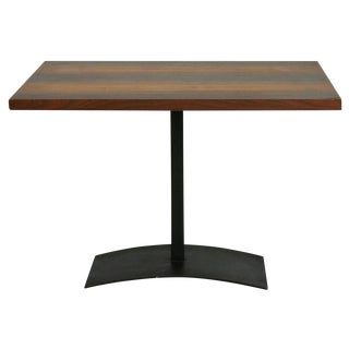 Milo Baughman Rosewood & Black Iron Occasional Table For Sale