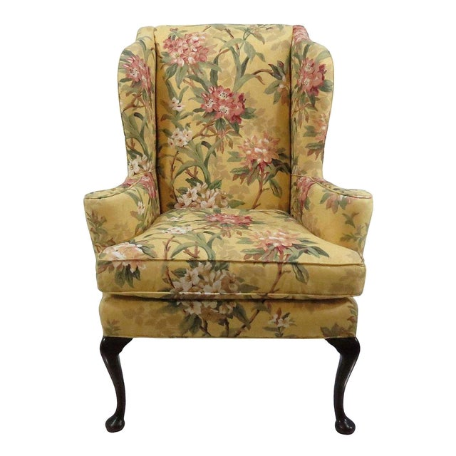 Century Furniture Queen Anne Wingback Chair Chairish