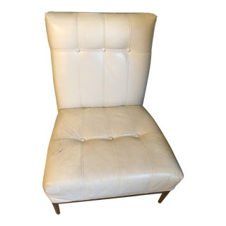 Mid-Century Style Ethan Allen Leather Chair