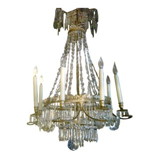 Early 19th Century Russian Gilt Bronze and Crystal Chandelier