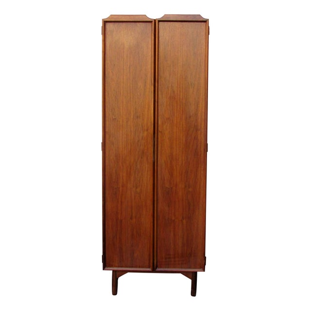 John Keal Dressing cabinet for Brown Saltman of California, 1960s. Chest has six drawers, tie/accessories swing out arms,...
