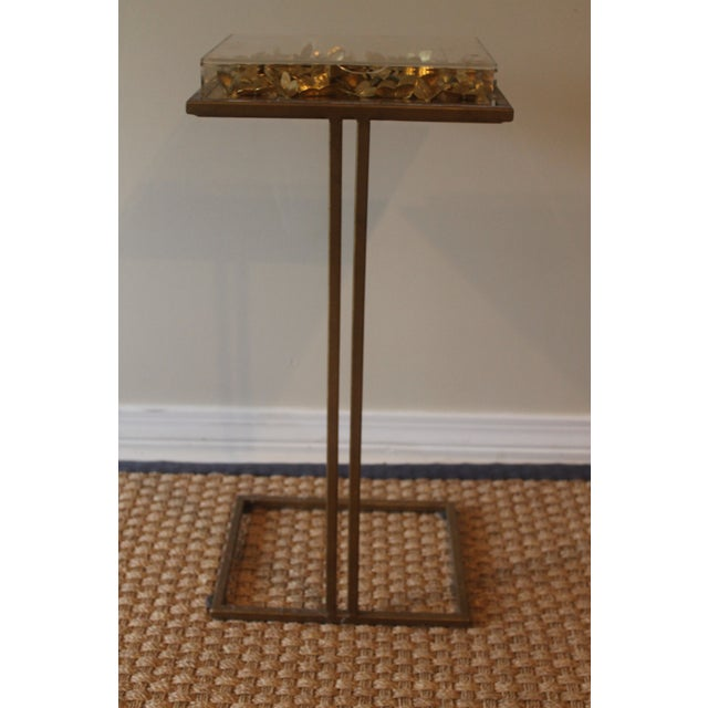 Modern Tommy Mitchell Lucite Butterfly Tray Table For Sale - Image 4 of 9