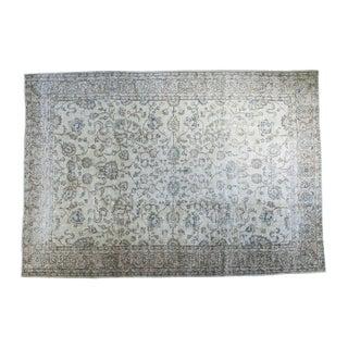 "Distressed Turkish Oushak Carpet - 6'9"" x 9'9"" For Sale"